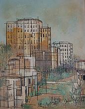 Gene Elmore (Born 1927), American. Oil on canvas board.