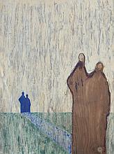 Enrique (Kico) Govantes (born 1957) Cuban. Oil on plywood panel