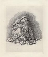 Amand Durand (After) Andrea Mantegna Madonna and Child 1880 Durand Etching