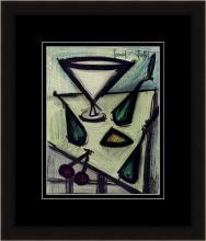 Bernard Buffet Still Life with Fruit Original Framed Lithograph