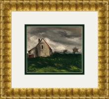 (After) Maurice Vlaminck La Maison Dans la Plaine Lithograph Framed