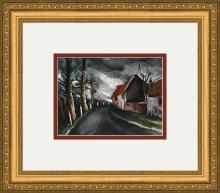 (After) Maurice de Vlaminck La Route de Longny Lithograph Framed