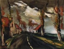 (After) Maurice de Vlaminck La Route de Mortagne Lithograph Framed