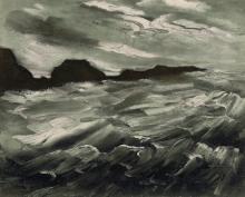 (After) Maurice de Vlaminck Lithograph La Baie des Trepasses Framed