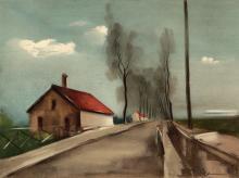 (After) Maurice Vlaminck 1958 Framed Lithograph La Route de Brezolles