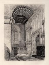 Thomas Original St Cuthberts Screen Etching 1876