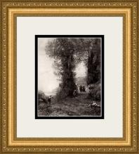 (After) Jean-Baptiste Camille Corot A Dance in the Woods Framed