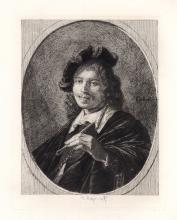 Gerrit Dou Self Portrait Etching 1876