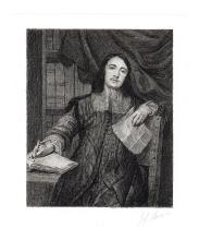 Gonzales Cocx  1880s Cornelis de Bie Antique Etching