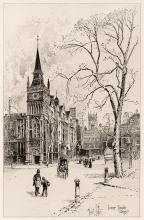 Herbert Railton Inner Temple Library 1892 Original Etching