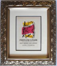 Fernand Leger Musee National d'art Lithograph Framed