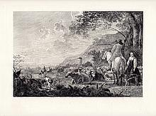 Aelbert Cuyp etching Lanscape Antique