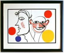 Alexander Calder Litho Framed Faces
