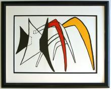 Alexander Calder Lithograph Framed Stabiles