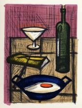 Bernard Buffet Color Lithograph framed