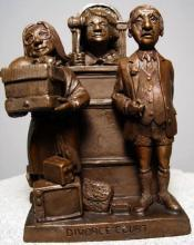 Charles Bragg Divorce Court Sculpture