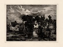 Constable Etching Willy Lotts House 1800s