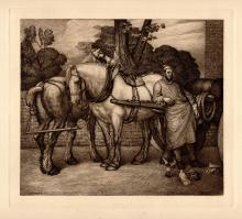 George Frederic Watts Etching 1800s