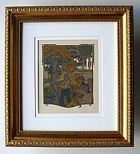 Gustave Baumann Original color woodcut