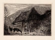 Hamerton Antique etching 1800s