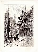 Herbert Railton Etching France 1800s