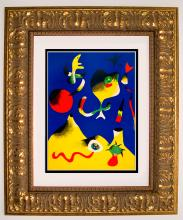 Joan Miro Lithograph Air Lithograph 1937 Framed