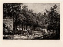 John Crome etching Chapel Fields 1800s