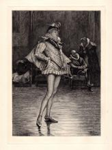 John Pettie R.A. Etching 1800s Theater
