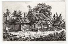 John Thomas Smith Cottages and Woman