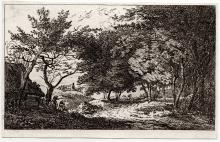 John Thomas Smith Country Lane etching