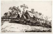 John Thomas Smith Farm Scene etching