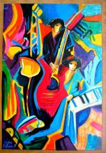 Philip Maxwell Music Serigraph Canvas