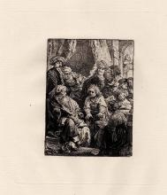Rembrandt Joseph Telling his Dreams etching