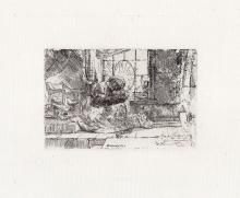 Rembrandt Madonna and Child etching