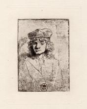 Rembrandt The Artists Son: Titus etching 1800's
