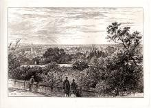 Edward Hull antique Etching 1800s Windsor Castle