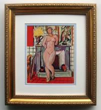 Matisse Nude Color helio 1930's framed
