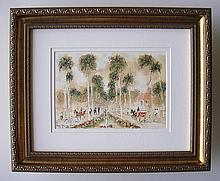 Urbain Huchet Royal Palm Way signed Framed