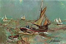 Urbain Huchet Signed/Numbered Boats