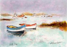 Urbain Huchet Signed/Numbered Litho Boats