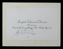 Joseph Edward Davies SGC Authenticated