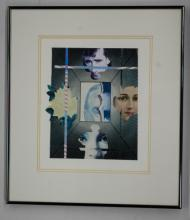Original c1970's Illustration Art Collage by