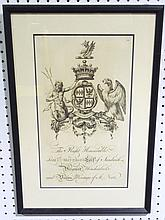 1765 COAT OF ARMS ENGRAVING