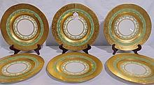 6 Fine Gilded Hutschenreuther Plate's
