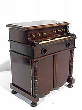 Early Mahogany Piano Shaped Cigar,Cigarette Match Safe