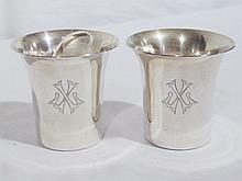 Pair Vintage Revere Sterling Beaker's/Cups