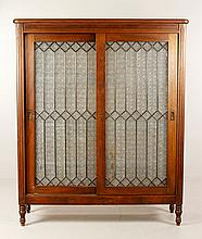 20th C. Glass Door Bookcase