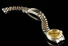 Ladies 14K and Stainless Rolex