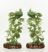 Pr. 20th C. Chinese Jade Birds