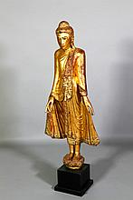 Thai 19th C. Gilt Wood Buddha